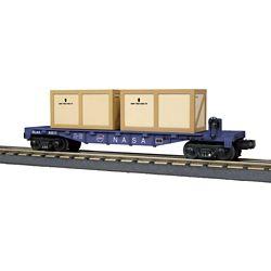MTH3076705 MTH Electric Trains O Flat w/2 Crates NASA 507-3076705