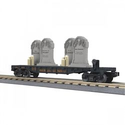 MTH 30-76784 O-27 Flat/Headstones/Flicker Candles Halloween/Blk