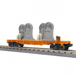 MTH 30-76785 O-27 Flat/Headstones/Flicker Candles Halloween/Org