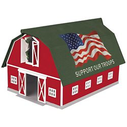MTH3090533 MTH Electric Trains O Barn, Support Our Troops 507-3090533