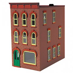 MTH 30-90598 O 3-Story Town House #1 Dusty Red