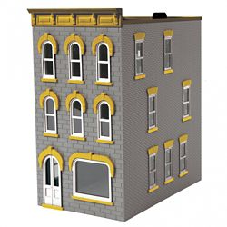 MTH 30-90599 O 3-Story Town House #1 Standing Gray