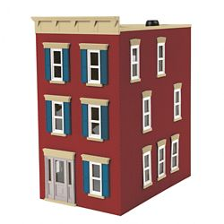 MTH 30-90600 O 3-Story Town House #2 City Brick Red