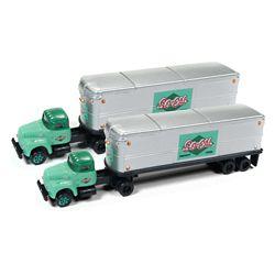 Classic Metal 51178 N 1954 IH R-190 Semi Tractor-AeroVan Trailer 2-Pack Mini Metals So-Cal Freight Lines 2-Tone Green