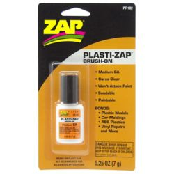 Pacer Glue PT102 Plasti-Zap Brush On .25oz. Carded