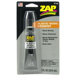 Pacer Glue PT104 Zap Plastic Model Cement 1oz Carded