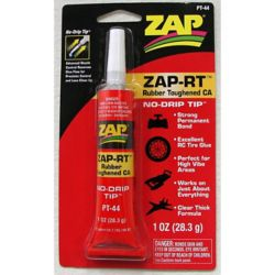 Pacer Glue PT44 ZAP RT Rubber Toughened CA 1 oz 28.3g