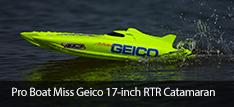 Pro Boat Miss Geico 17 Catamara