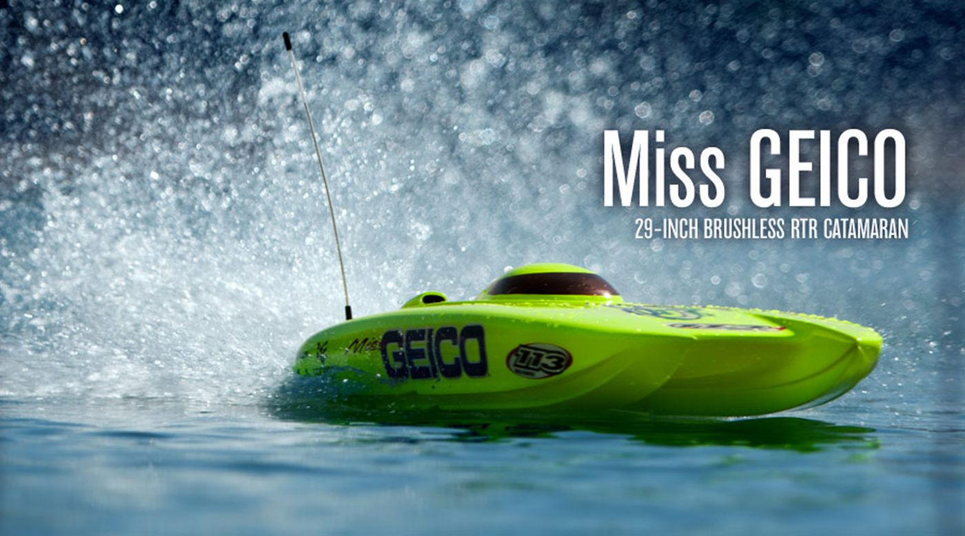 Image for Miss GEICO 29 BL Catamaran 2.4 RTR V2 from HorizonHobby