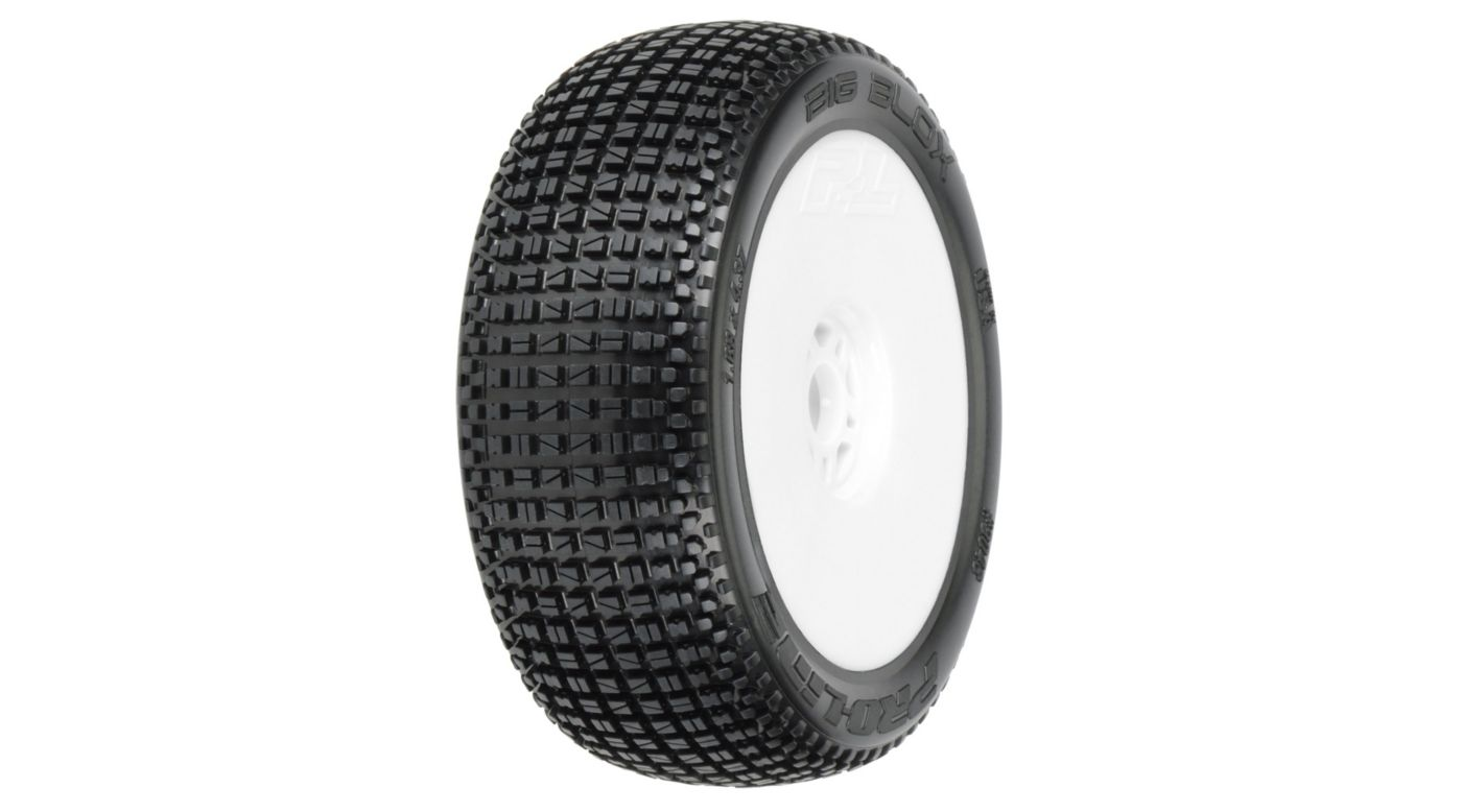 Image for 1/8 Big Blox M3 Off Road Mnt V2 Wheel, White: Buggy from HorizonHobby