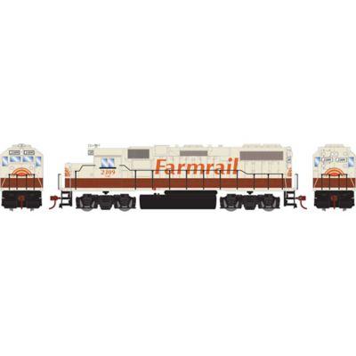 Athearn 14644 HO GP38-2, GNBC/Farmrail #2309
