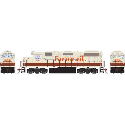 Athearn 14645 HO GP38-2, GNBC/Farmrail #2314