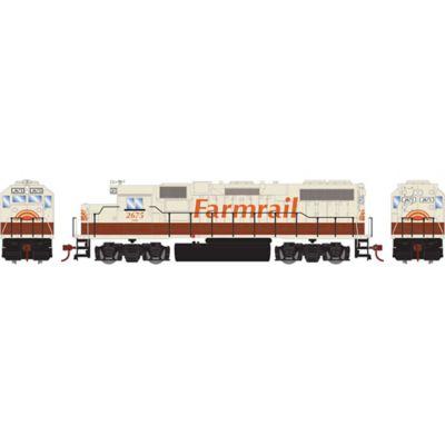 Athearn 16346 HO GP38-2 w/DCC Decoder, GNBC/Farmrail #2675