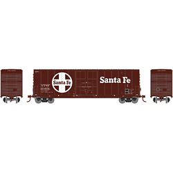 Roundhouse 1685 HO 50' Smooth High Cube Plug Door Box Santa Fe #151654