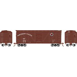 Roundhouse 2893 HO 40' Ribbed Wooden Box Northern Pacific #28578