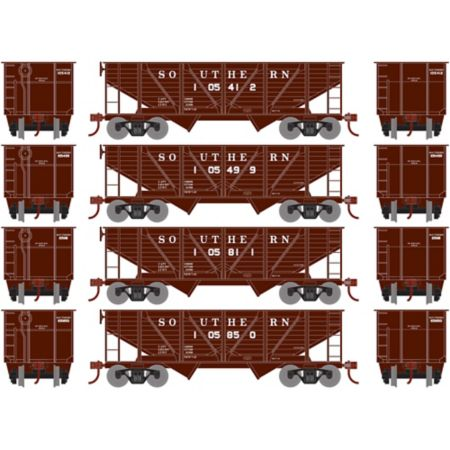 Roundhouse 70916 HO 34' 2-Bay Hopper w/Coal Load Southern #3 -4