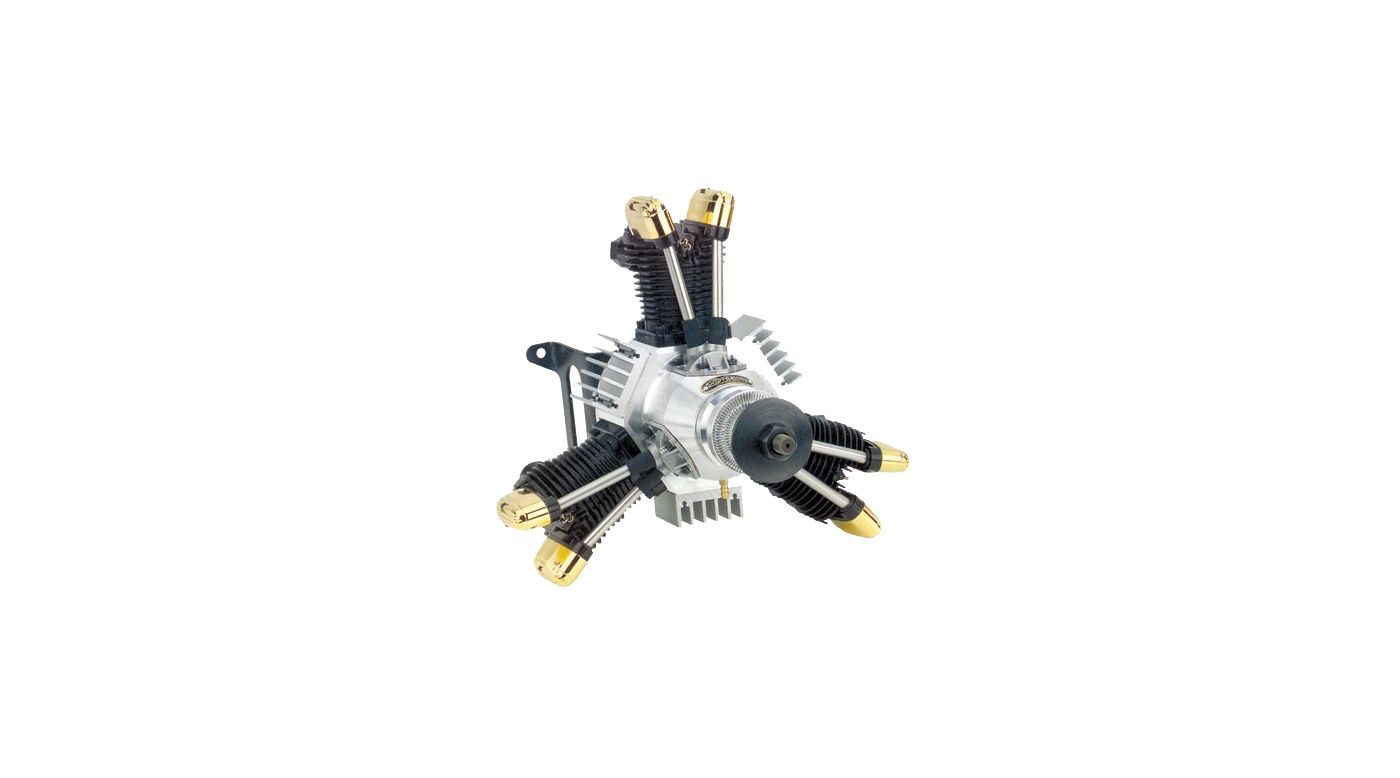 Image for 450 3-Cylinder Radial Dual Plug with Muffler: HH from HorizonHobby