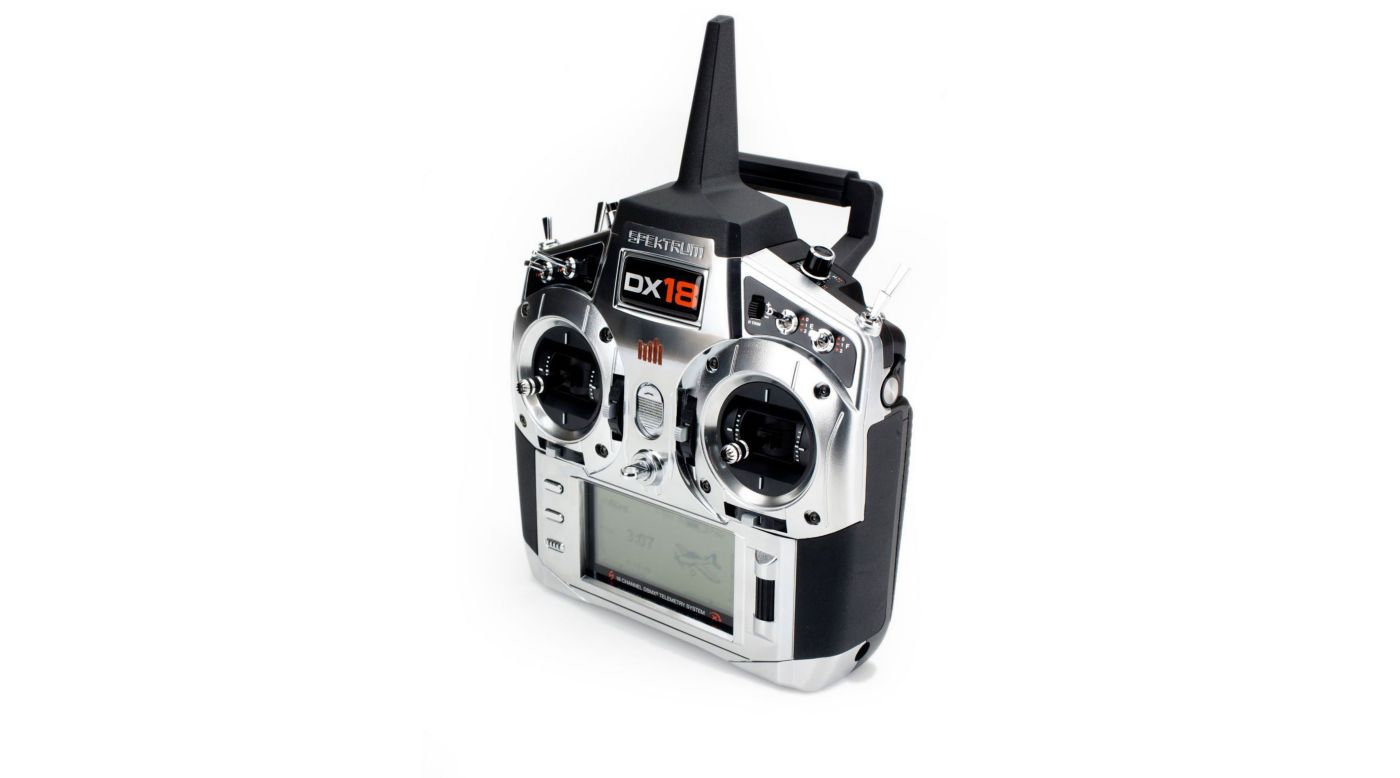 Image for DX18 18-Channel DSMX® Transmitter with AR9020 Receiver, Mode 2 from HorizonHobby
