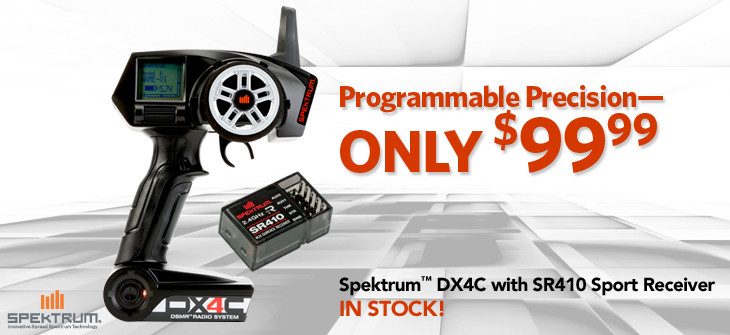 DX4C DSMR 4-Channel Radio with SR410