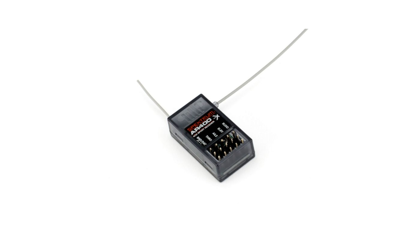 Image for AR400 4-Channel DSMX Aircraft Receiver from HorizonHobby