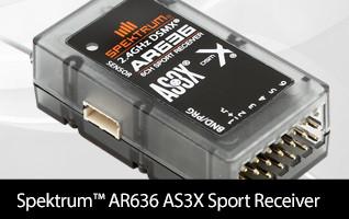 SPM AR626 Sport Receiver AS3X DSMX Aircraft Transmitter Multirotor Drone