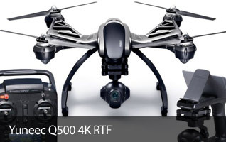 Yuneec Q500 4K RTF with ST10+, CGO3