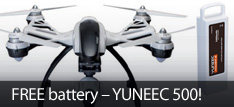 Yuneec Q500 Typhoon RC aerial photography quadcopter drone with free battery and SteadyGrip