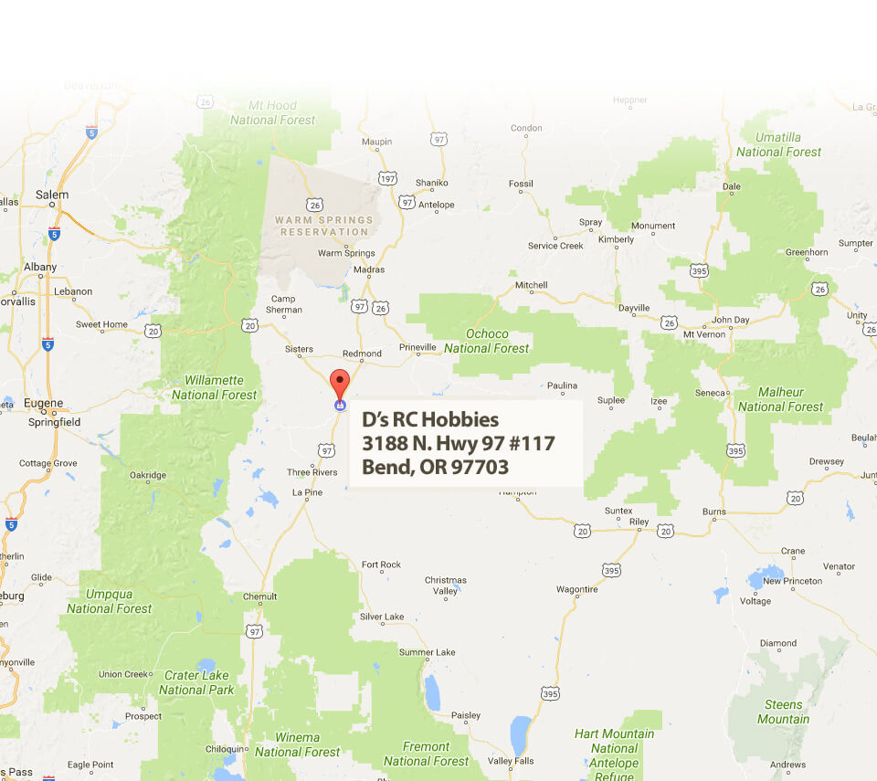 Map and Directions to D's RC Hobbies –  Bend, OR