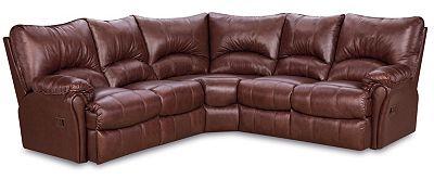 Lane Furniture Alpine Leather Reclining Sectional Sofa ...
