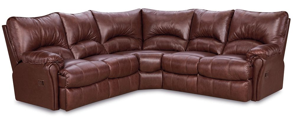 Lane furniture alpine leather reclining sectional sofa for Leather sectional sofa lane