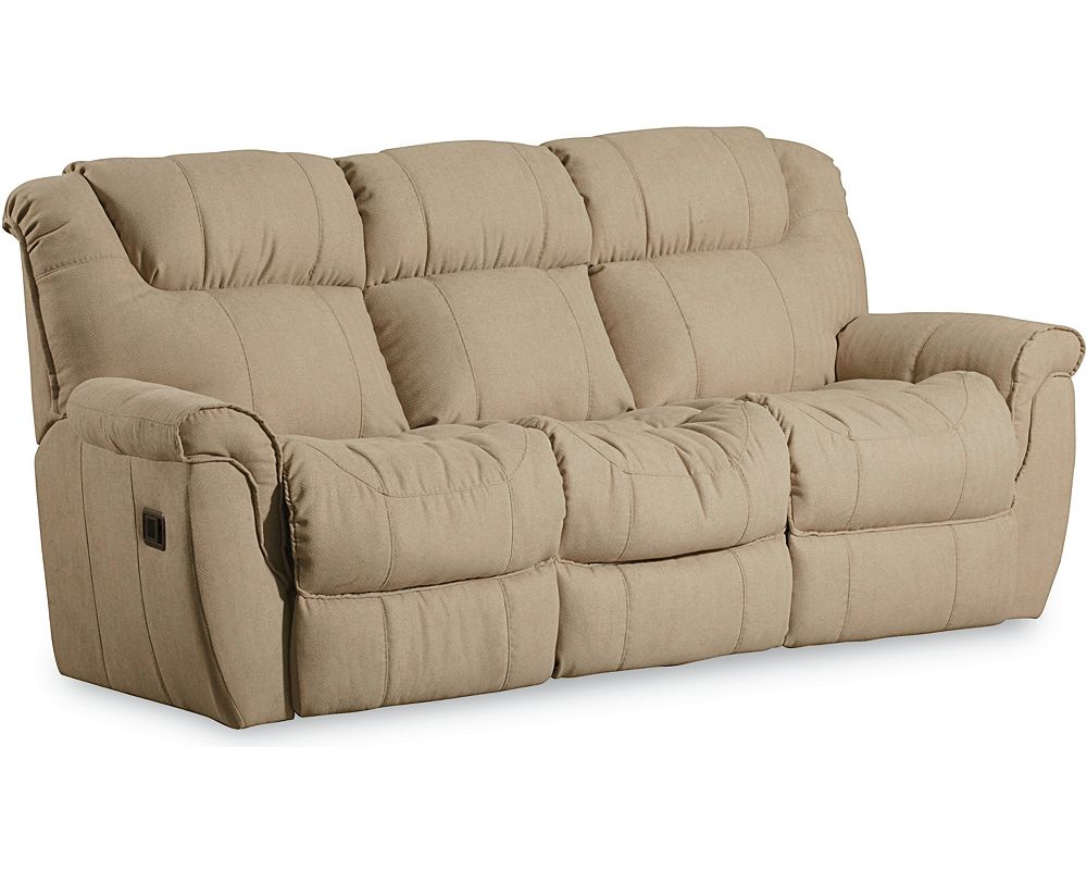 Recliner sofas baycliffe brown reclining sofa sofas thesofa for Sectional sofa with bed and recliner