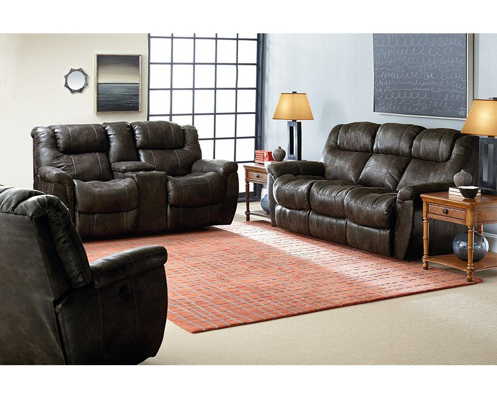 Montgomery Double Reclining Console Loveseat