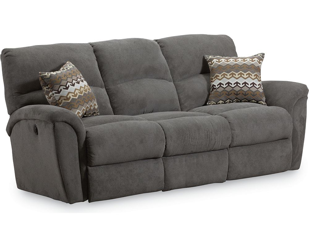 Grand torino double reclining sofa lane furniture Loveseats with console
