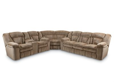 Talon Reclining Sectional Sectionals Lane Furniture ~ Sofa Bed Sectional With Recliner