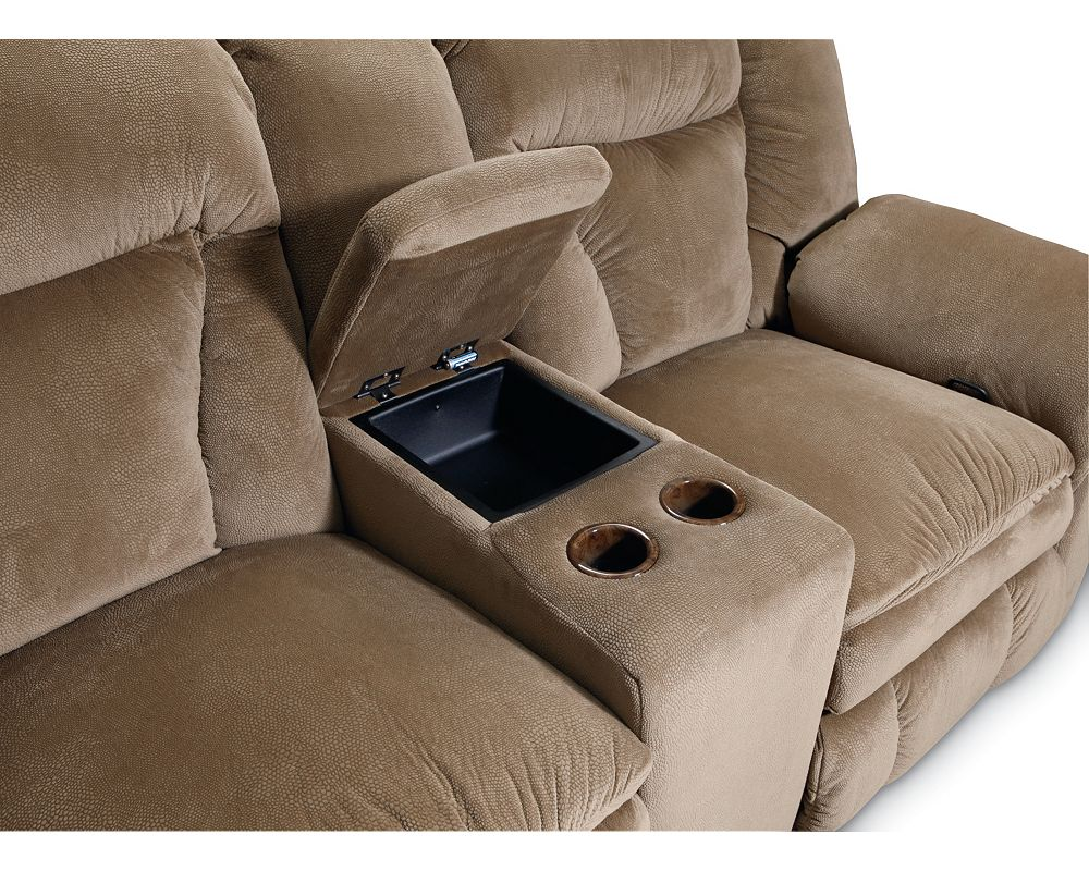 Lane Talon Double Reclining Console Loveseat