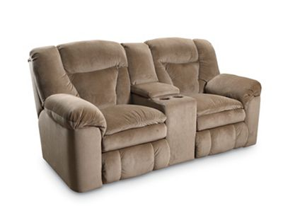 Talon Double Reclining Console Loveseat with Storage from