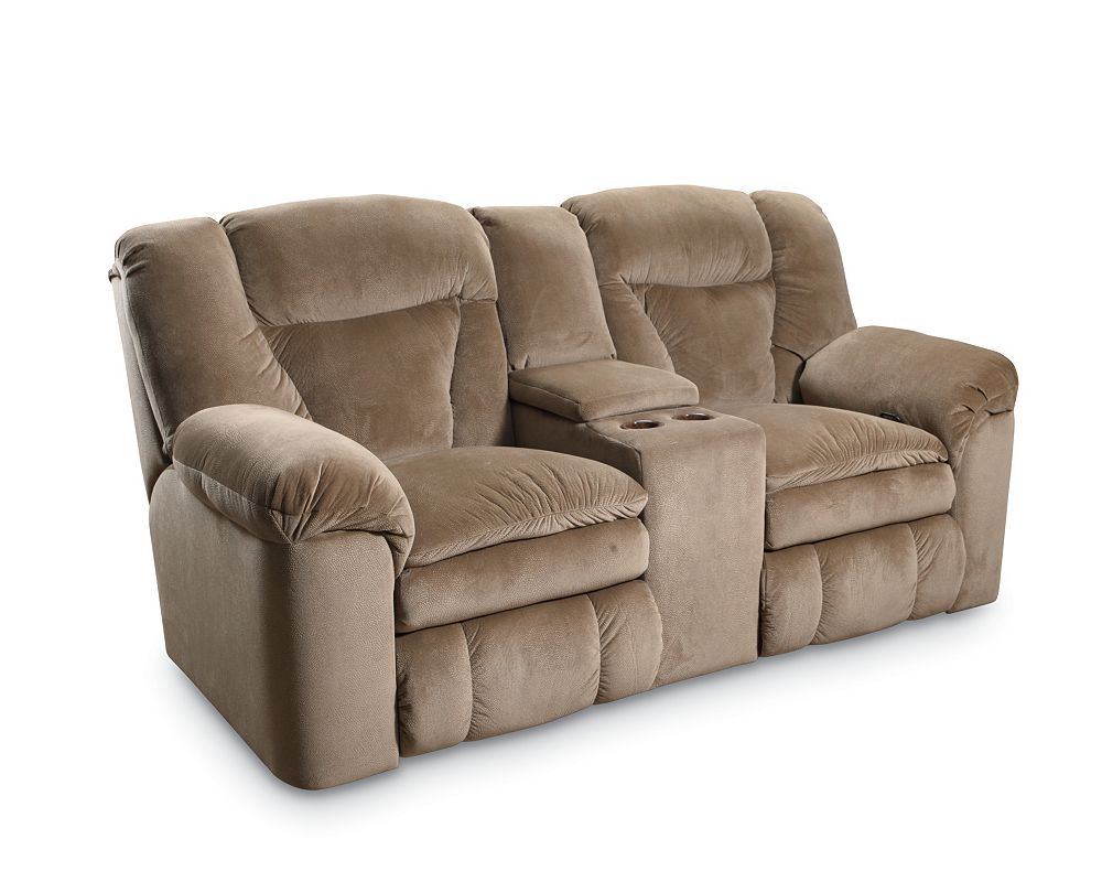 Lane talon double reclining console loveseat Storage loveseat