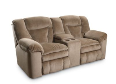 Talon Double Reclining Console Loveseat with Storage  sc 1 st  Lane Furniture : recliner loveseat with cup holder - islam-shia.org
