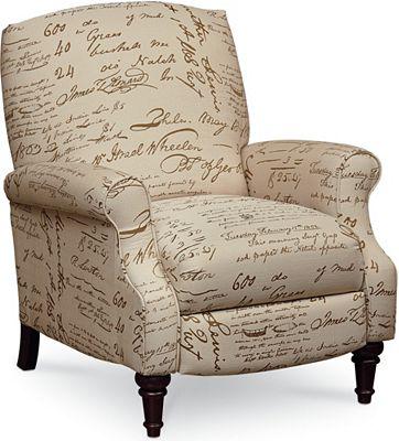 Chloe High-Leg Recliner | Recliners | Lane Furniture ...