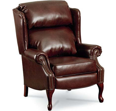Savannah high leg recliner nailhead trim from the for Furniture 7 customer service