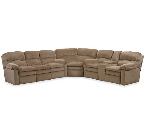 Touchdown reclining sectional from the touchdown for Furniture 7 customer service