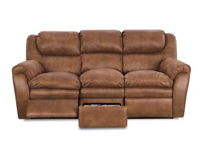 Hendrix Double Reclining Sofa w/ Storage Drawer
