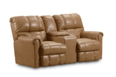 Elegant Griffin Double Reclining Console Loveseat With Storage