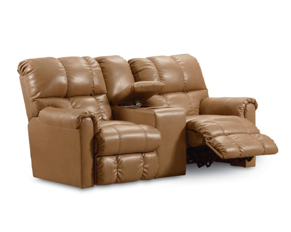 Lane Griffin Double Reclining Console Loveseat With Storage