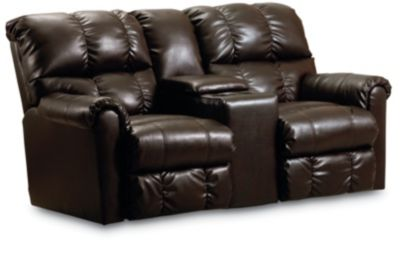 lane griffin double reclining console loveseat with storage lane furniture