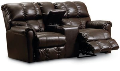 Lane Griffin Double Reclining Console Loveseat With Storage | Lane Furniture