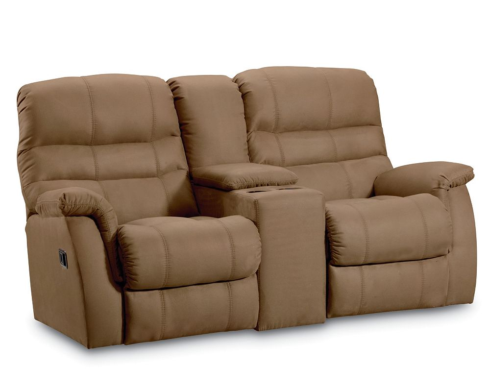 Recliner Sofa With Console Burgundy Leather Reclining Sofa