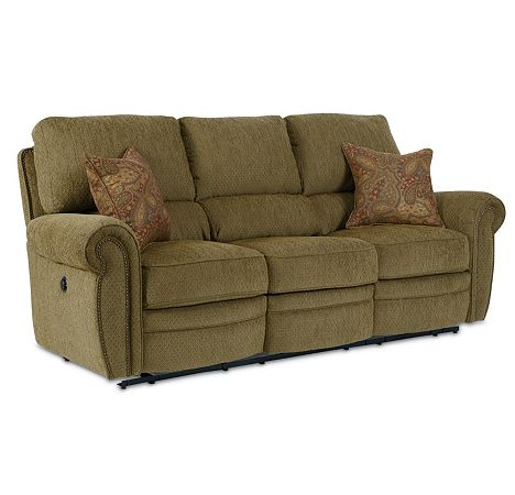 Rockford double reclining sofa power from the rockford for Furniture 7 customer service