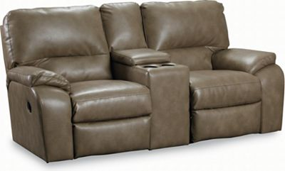 Lane Thad Double Reclining Console Loveseat ~ Sofa Recliner With Console