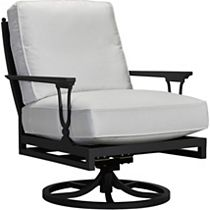 Swivel Rocker Lounge Chair - X Back